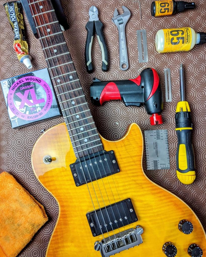 Guitar repair and restringing in Leighton Buzzard.